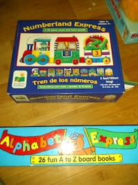 Number puzzle and alphabet book set.