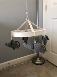 Pottery barn elephant crib mobile for baby