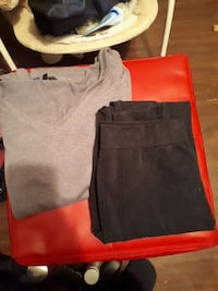 Women's gray v-neck shirt and black pants Moose Jaw, S6H 1W2