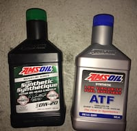 8 Bottles AMSOIL synthetic 0w20 and ATF oil Toronto, M2J 3C8