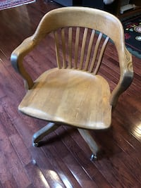 Antique wooden office chair Port Moody, V3H