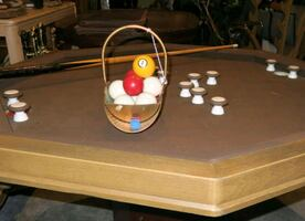 Vintage Bumper Pool and Poker Table