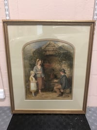 R.H. Giles Watercolor Framed Painting 1870's Sarasota, 34238