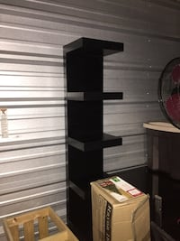 black wooden rack