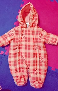 pink and white plaid button-up hoodie Pickering, L1W 2T3