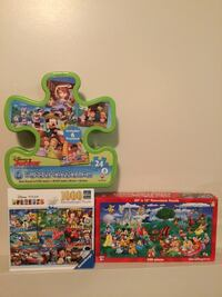 Disney Puzzles. Lot of 3.  Cambridge, N1P 1A8