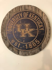 """Uk Kentucky Wildcat 31"""" sign wall art vintage and new together."""