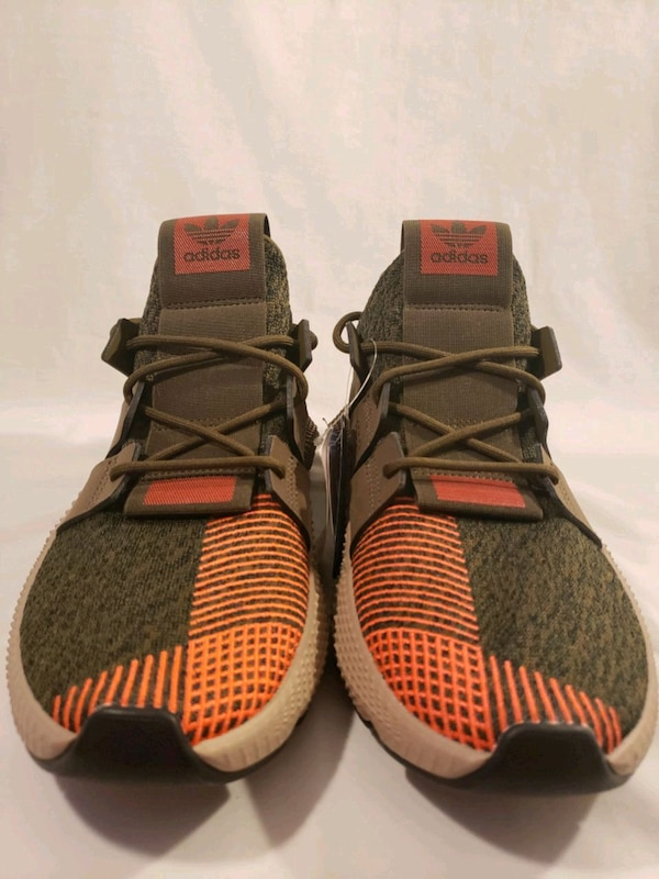 Mens Adidas Prophere in Trace OliveSolar Red