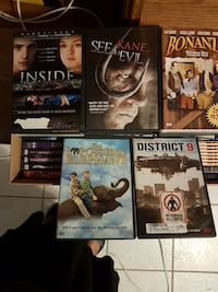 assorted DVD movie cases