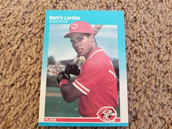1987 Fleer Glossy Barry Larkin Rookie Card