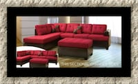 Red sectional with ottoman 42 mi