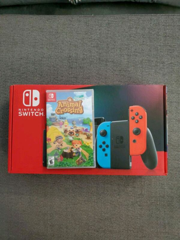 Sold Nintendo Switch Console Animal Crossing Bundle In Lombard Letgo