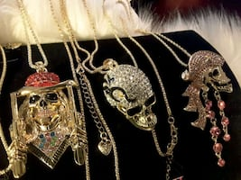 NEW Necklaces by BetseyJohnson Skulls