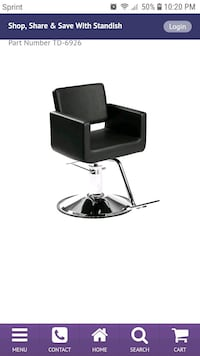 black and gray leather padded chair Sugar Land, 77498