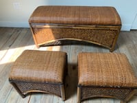 Wicker Chest with two seats  Kitchener