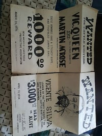 Vintage  wanted  signs