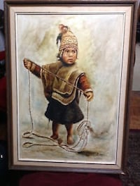 NATIVE BOY CHILD OFTHE ANDES   ORIGIN : LA PAZ BALIVIA   SIGNED BY THE ARTIST  Toronto, M5A 4J4