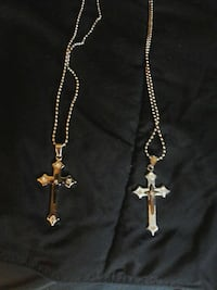 father and son stainless steel crosses one 18 in c
