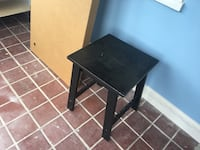 black wooden table with black metal base Essex, 21221