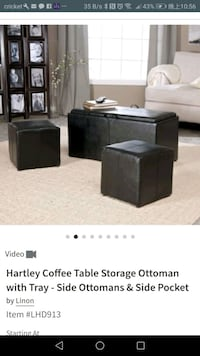 Hartley Coffee Table Storage Ottoman with Tray  Elmwood Park, 07407