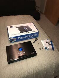 black Planet Audio amplifier with box