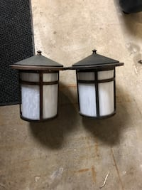 two black wooden base glass-top tables Ajax, L1S 3B6