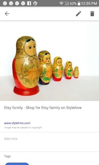 red-and-brown 5 nesting dolls