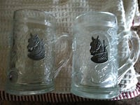 two clear glass beer stein Hardy, 24101