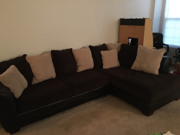 Used L-Shaped Sectional Couch for sale in Yorkville - letgo