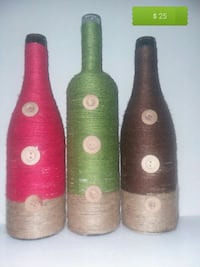 four brown and green ceramic vases Catonsville, 21228