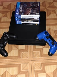 PS4 Slim With 2 controllers & 6 games Chelsea, 02150