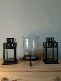 black wooden framed glass top side table Queens, 11415