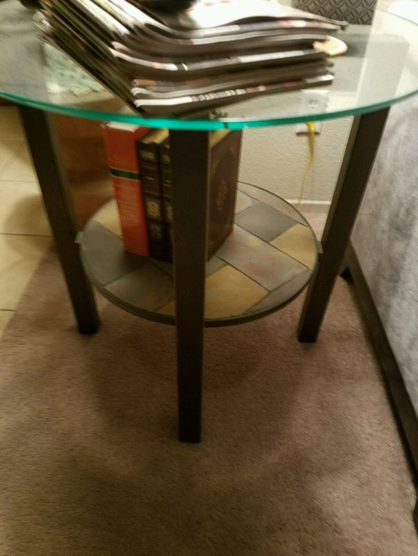 Glass and rod iron tables 773a3607-e8a3-437d-b9c8-9017cc696966