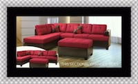 Red sectional with ottoman  49 km