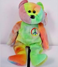 Very Rare # 4053Ty Beanie Baby Peace Bear original collectible