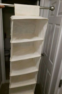 8-Shelf Cloth Canvas Hanging Closet Organizer Capitol Heights, 20743