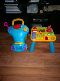 toddler's blue and yellow learning toy Cambridge, N1R 6A6