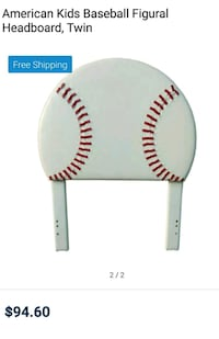 white American Kids baseball themed headboard El Paso, 79924