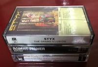 5 Audio Tapes For Sale - Styx, Tim Curry, Robert Palmer Burlington
