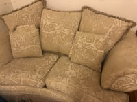 gray and white floral loveseat New York, 11102