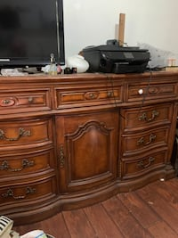 Triple dresser with mirror by Broyhill Furniture
