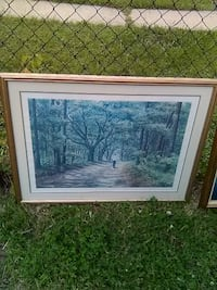 Country Road 3ft by 3ft Framed Wall Art Washington