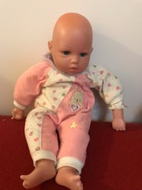 baby doll in pink and white footie pajama 馬卡姆, L3S 3M6
