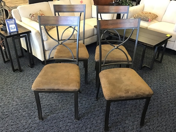 Used 4 Metal And Upholstery Chairs For Sale In Virginia Beach Letgo