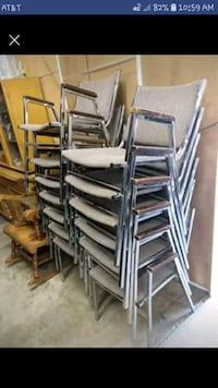 Stackable metal & cloth chairs Lehighton, 18235