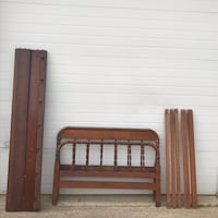 Read first. Antique wood Jenny Lind 1/4 size bed Irving, 75061