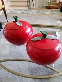 1960's Red Apple aluminum canisters  Toronto, M9C 2G9