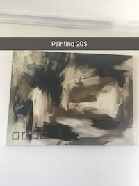 black and white abstract painting Toronto, M8Y 3A8