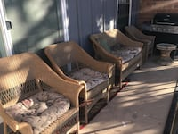 4regular chair And one big sofa chair 2 table Like brand new  Colorado Springs, 80915