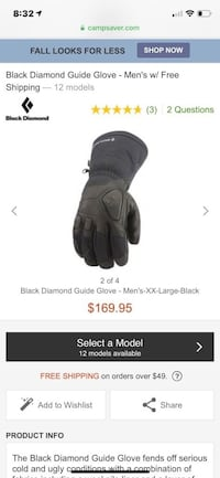 Black Diamond Guide Glove - REI, snowboard, ski, winter snow glove Bethesda, 20817